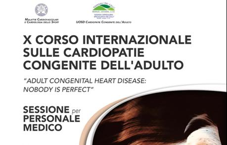 X CORSO CARDIOPATIE CONGENITE DELL'ADULTO PER PERSONALE MEDICO
